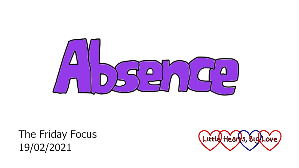 The word 'absence' in purple