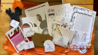 The contents of the Springaling craft box showing a variety of different activities