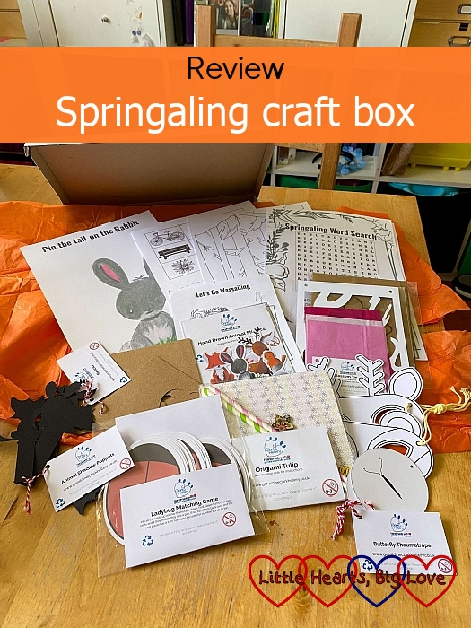 """The contents of the Springaling craft box - """"Review - Springaling craft box"""""""