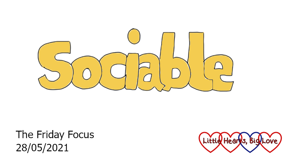 The word 'sociable' in yellow