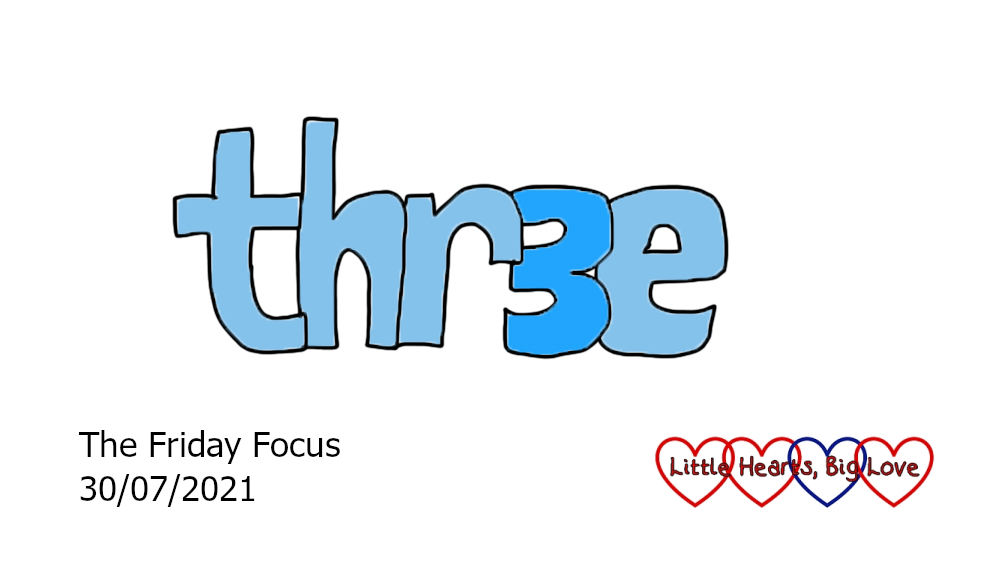 The word 'three' with the first 'e' changed for a '3'
