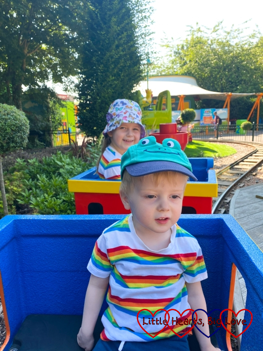 Sophie and Thomas on the DUPLO Express