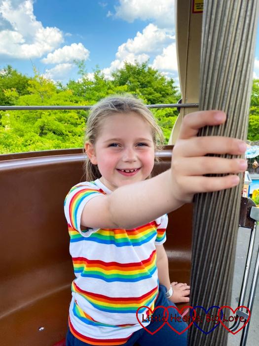 Sophie on the Aero Nomad ride