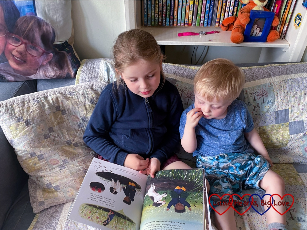 Sophie reading 'There's No Deer Around Here' to Thomas