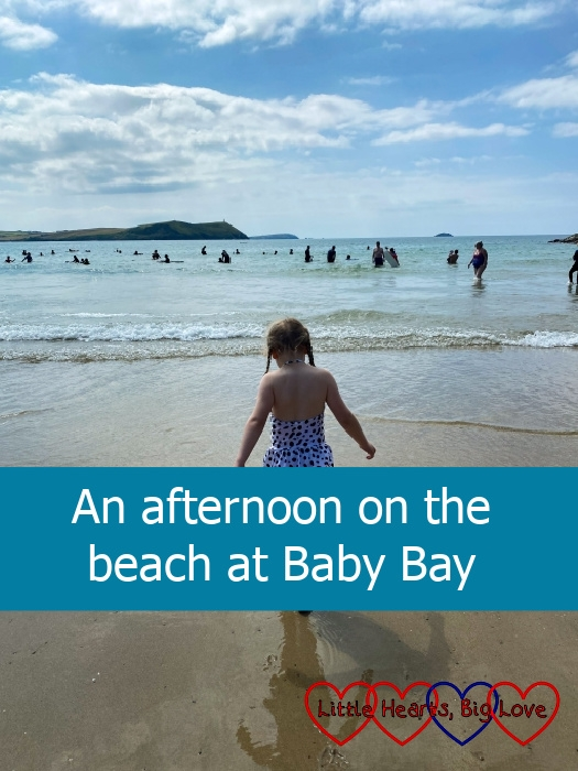 """Sophie paddling in the sea – """"An afternoon on the beach at Baby Bay"""""""