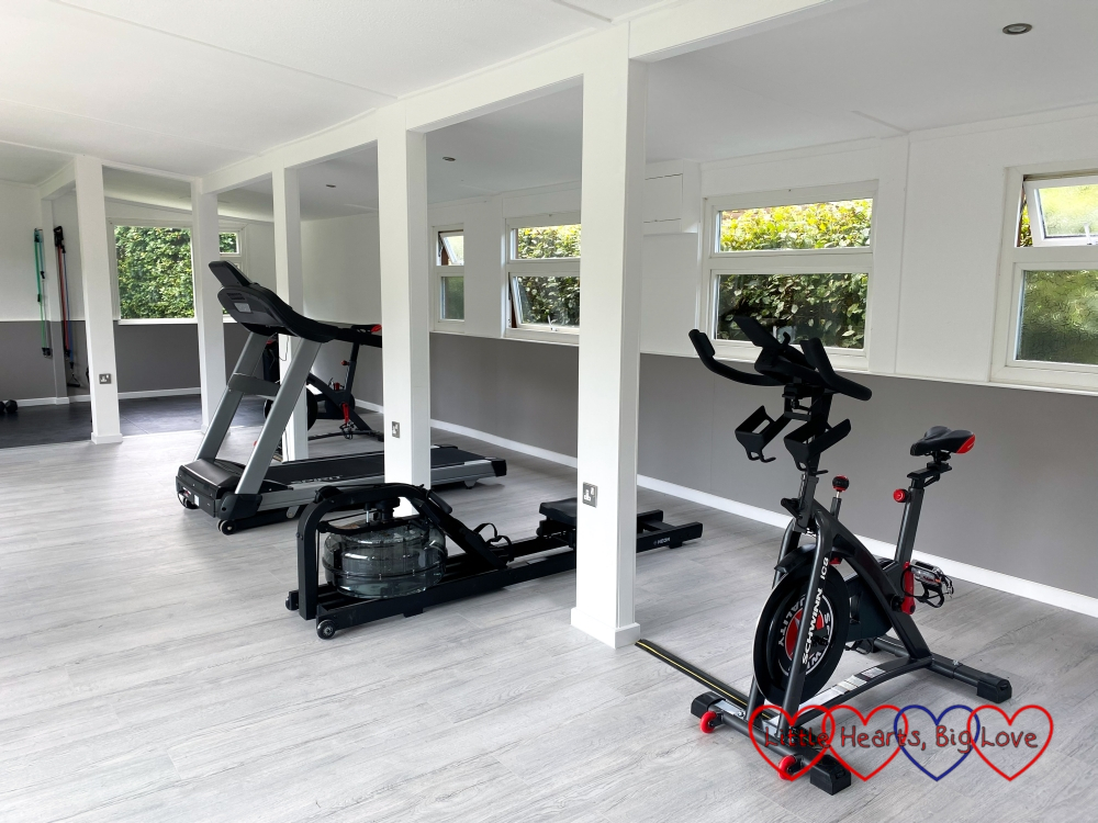 The gym at Coombe Mill