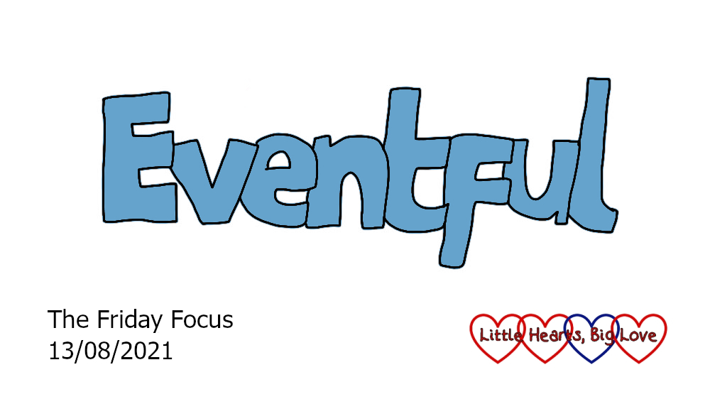 The word 'eventful' in blue