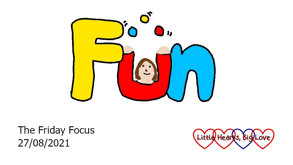 The word 'fun' with the 'u' drawn as a person juggling