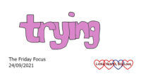 The word 'trying'